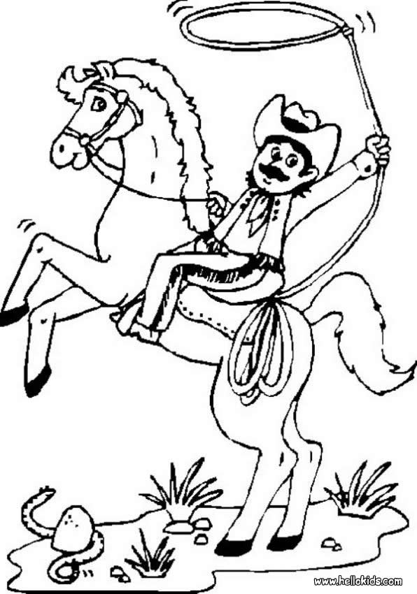 cowboy coloring pages for kids,printable,coloring pages