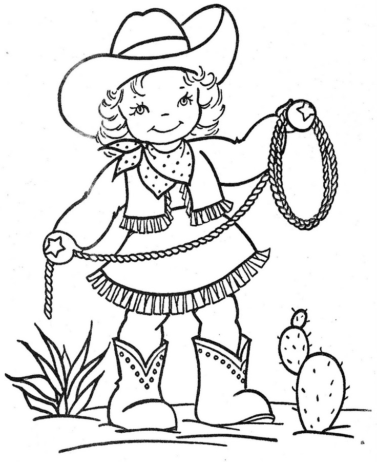 kids coloring pages cowboy,printable,coloring pages