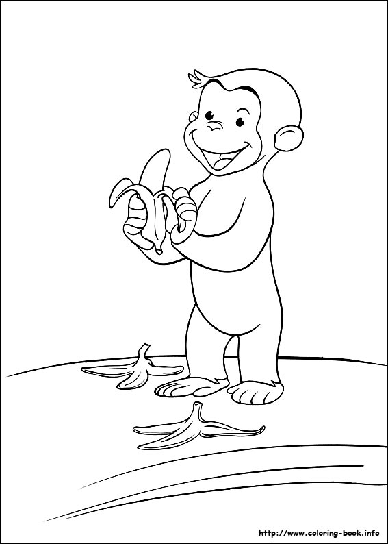 coloring pages of curious-george,printable,coloring pages