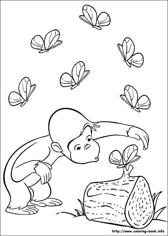 curious-george coloring pages,printable,coloring pages