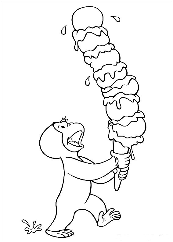 curious-george coloring pages for kids,printable,coloring pages