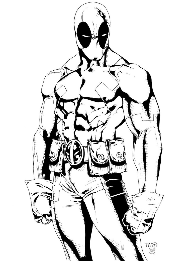14 deadpool coloring page to print print color craft