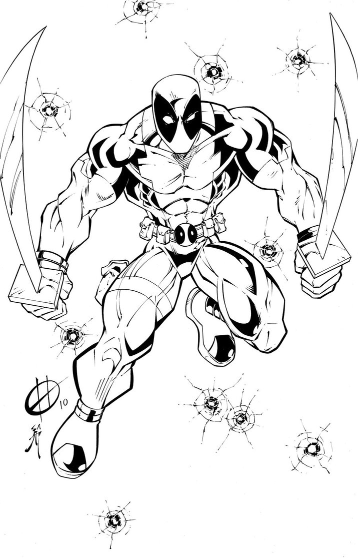 deadpool coloring page,printable,coloring pages