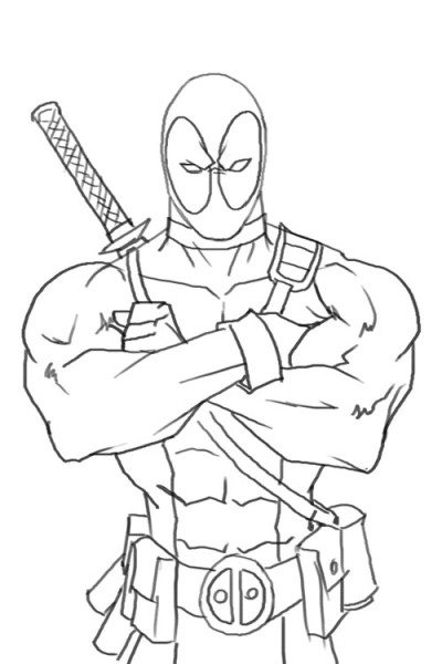 deadpool coloring page to print,printable,coloring pages