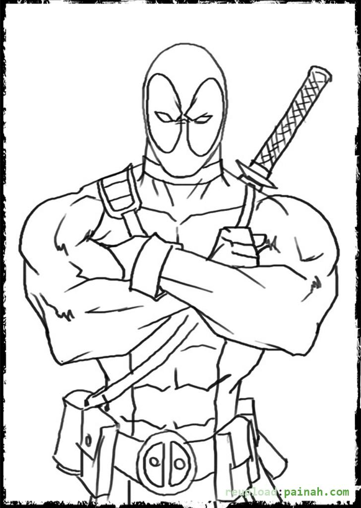 deadpool coloring pages 13,printable,coloring pages