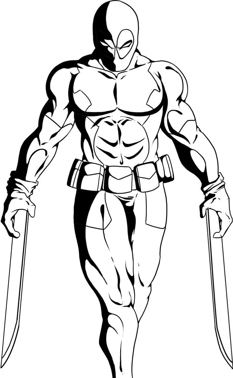 deadpool coloring pages for kids,printable,coloring pages