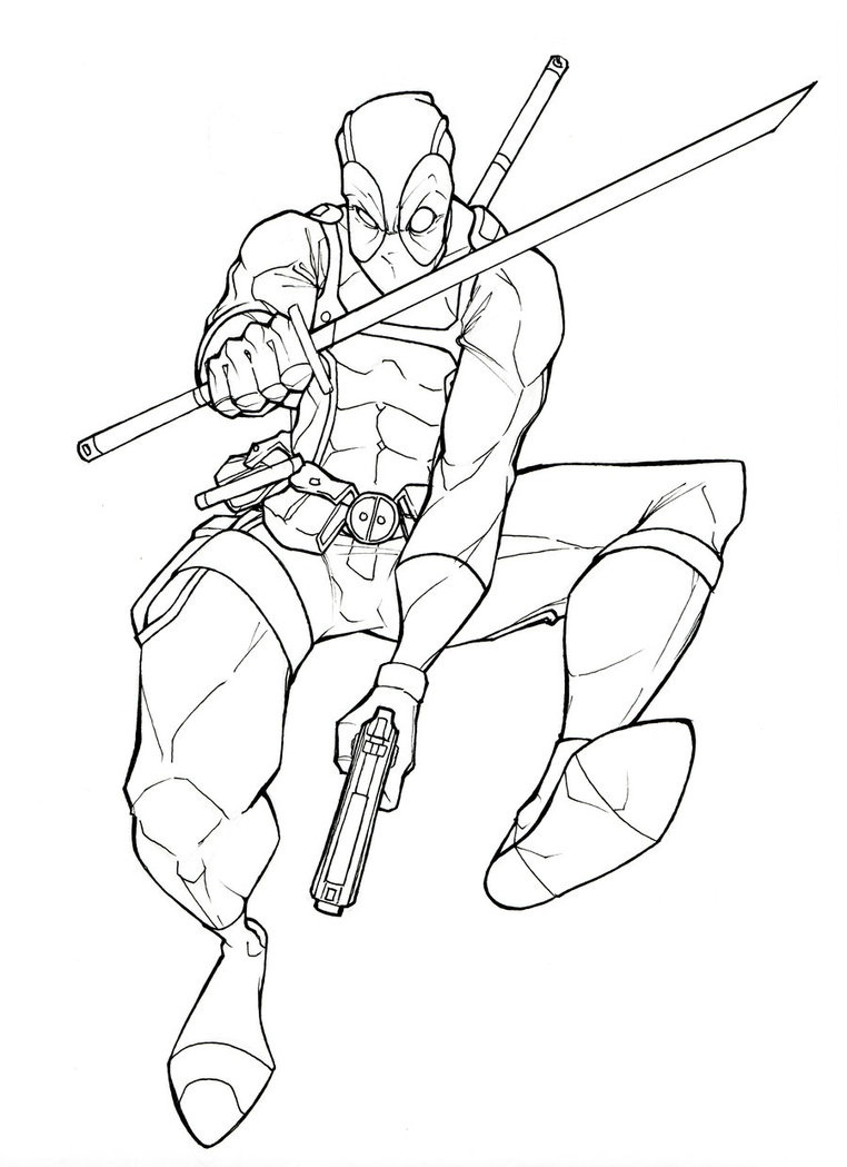 deadpool coloring pages printable,printable,coloring pages
