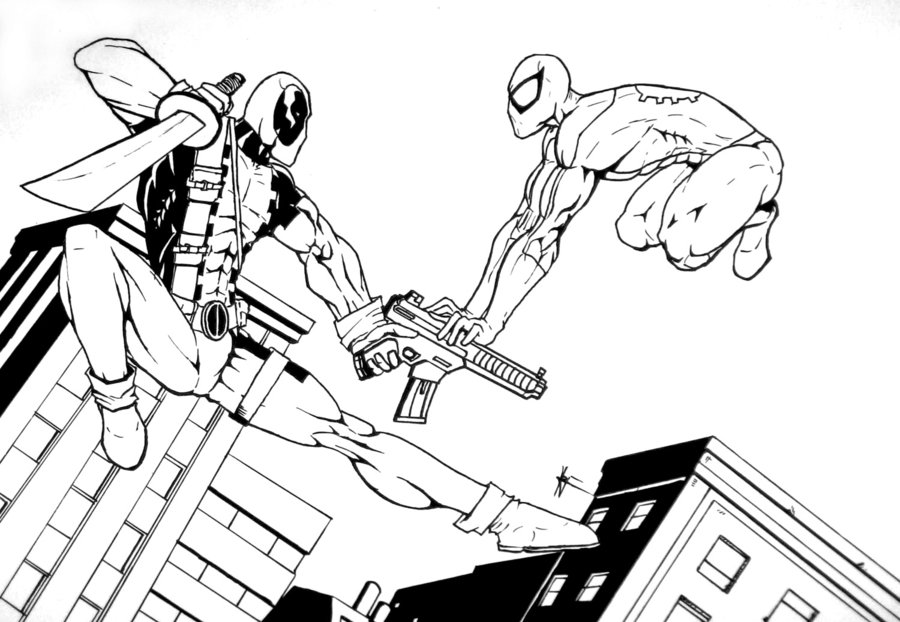kids coloring pages deadpool,printable,coloring pages