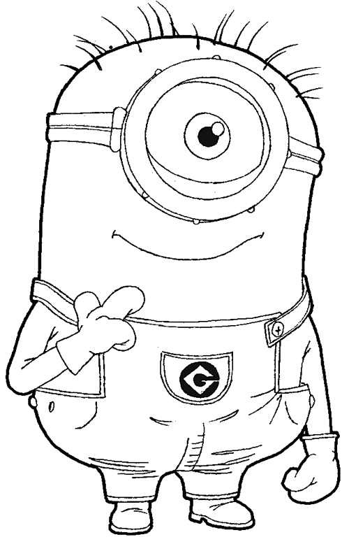 coloring pages of despicable-me,printable,coloring pages