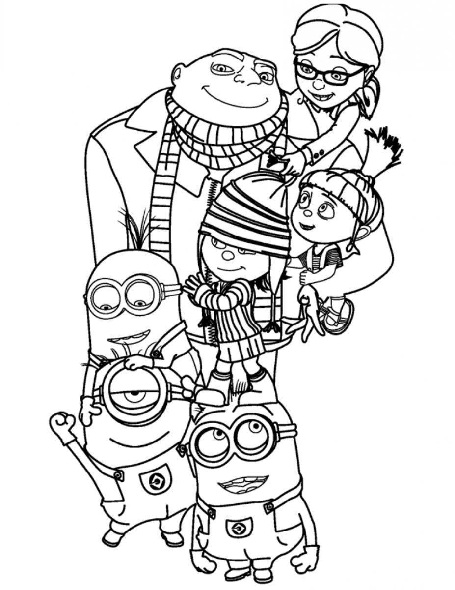 14 despicable me coloring pages for kids - Print Color Craft