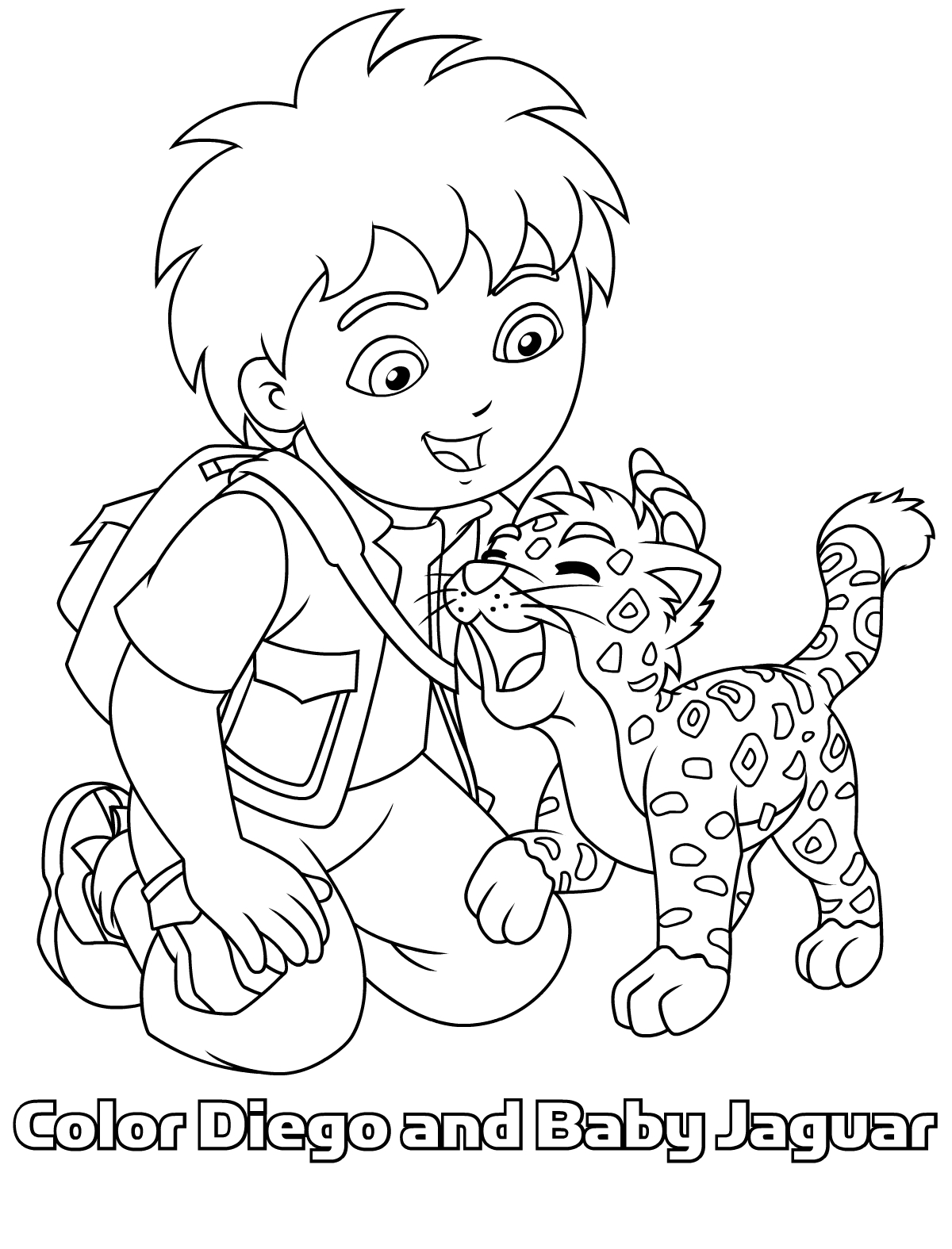 coloring pages of diego,printable,coloring pages