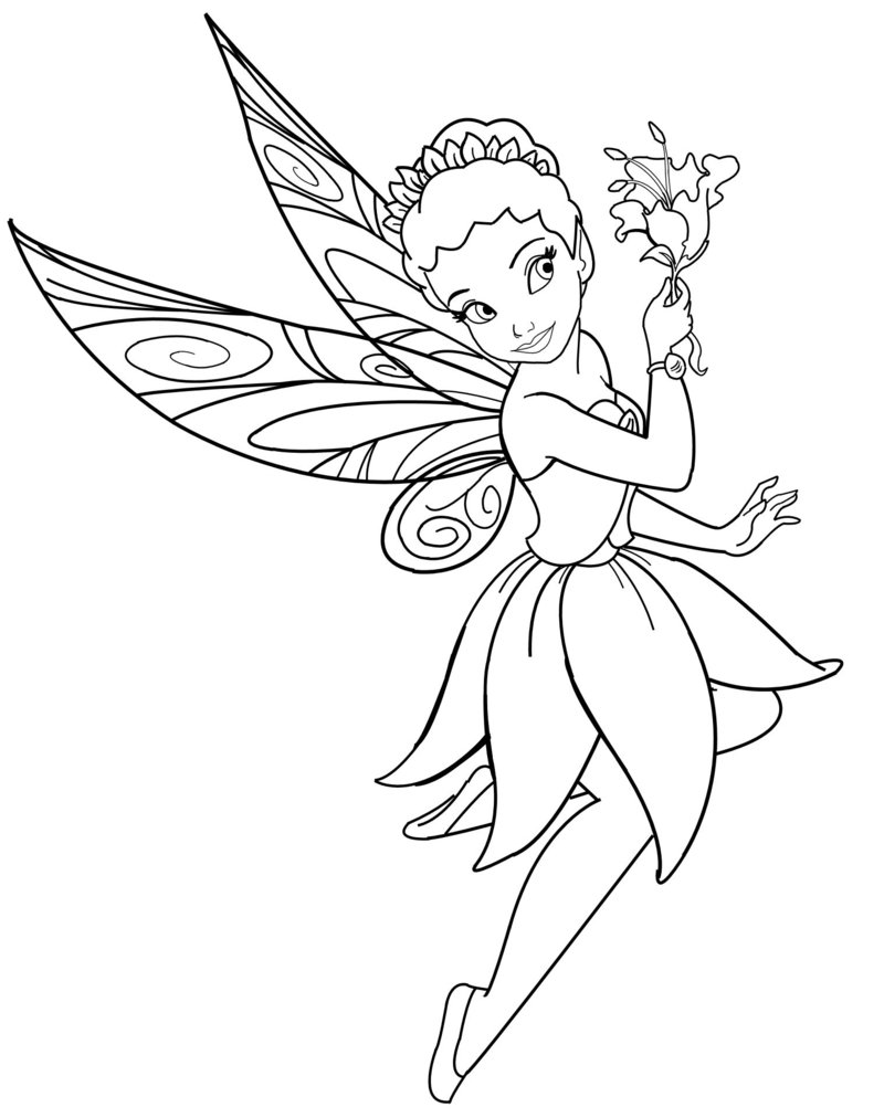 Coloring Pages Of Disney Fairiesprintablecoloring