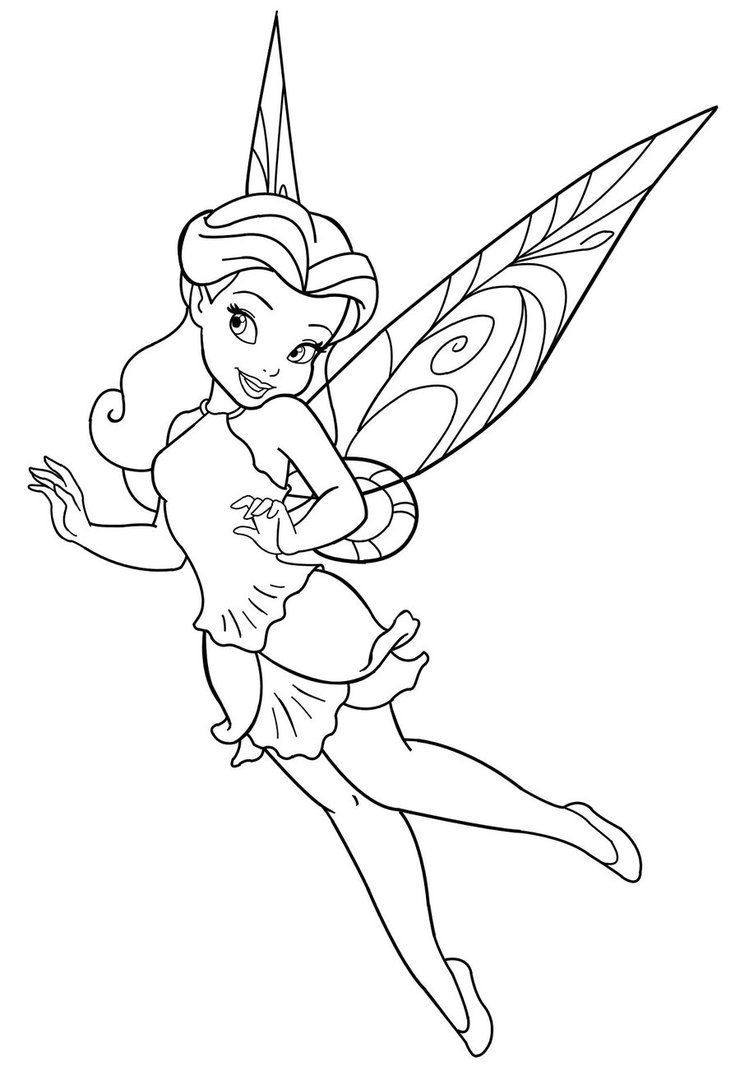 disney cartoon coloring pages. 11 printable disney fairies coloring pages princess page to print  Print Color Craft