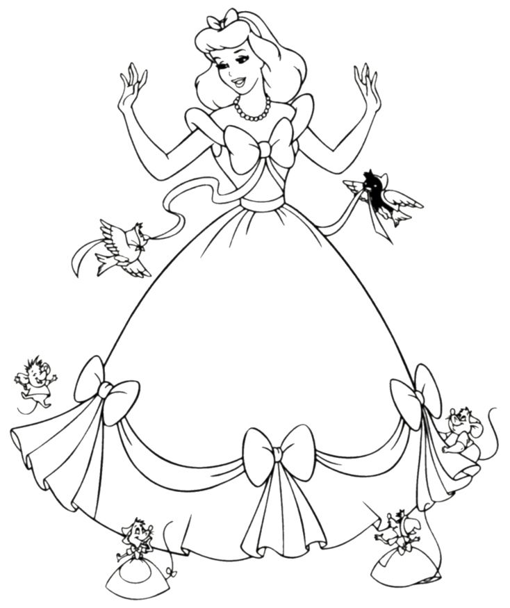 11 disney princess coloring page to print print color craft for Princess printable color pages