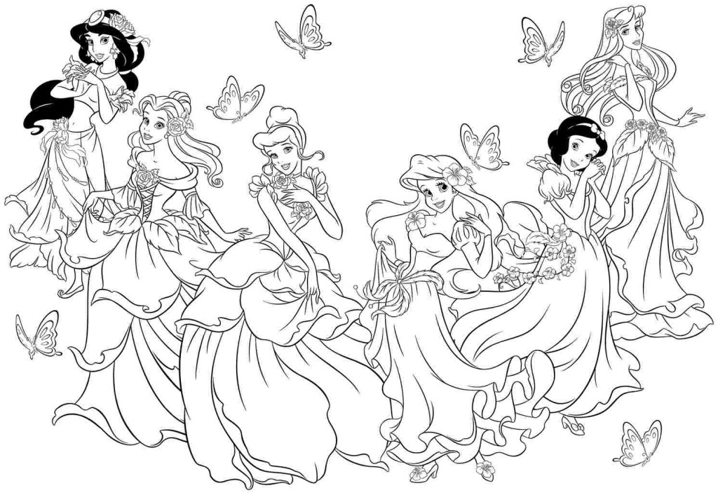 11 disney princess coloring page to print | Print Color Craft