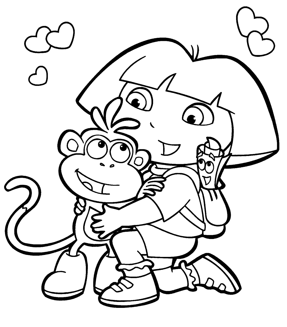 coloring pages of dora-the-explorer,printable,coloring pages