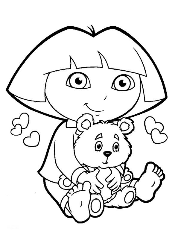 coloring pictures dora-the-explorer,printable,coloring pages
