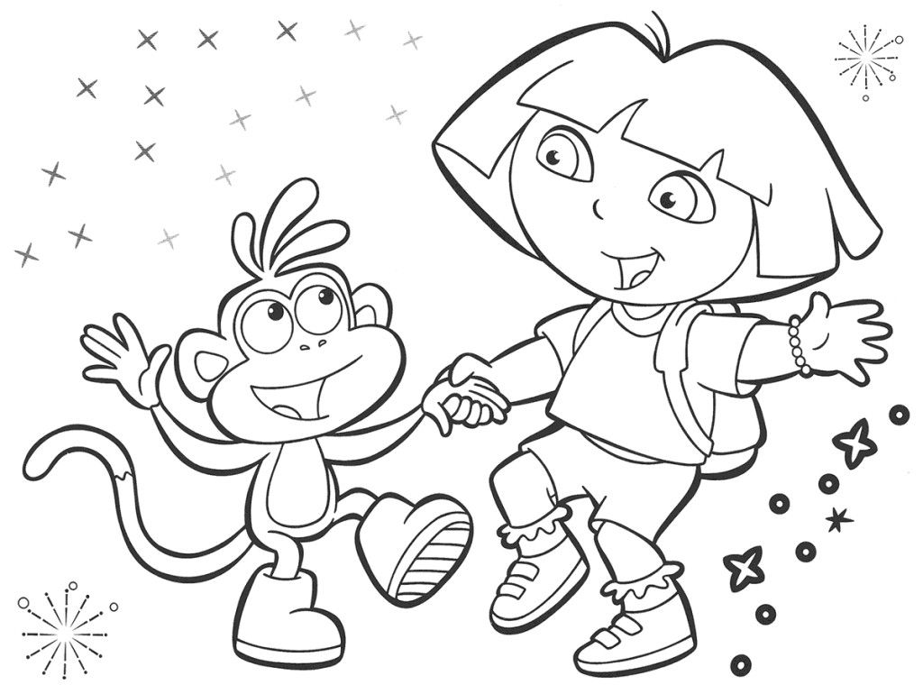 dora the explorer coloring pageprintablecoloring pages - Dora The Explorer Pictures To Color And Print