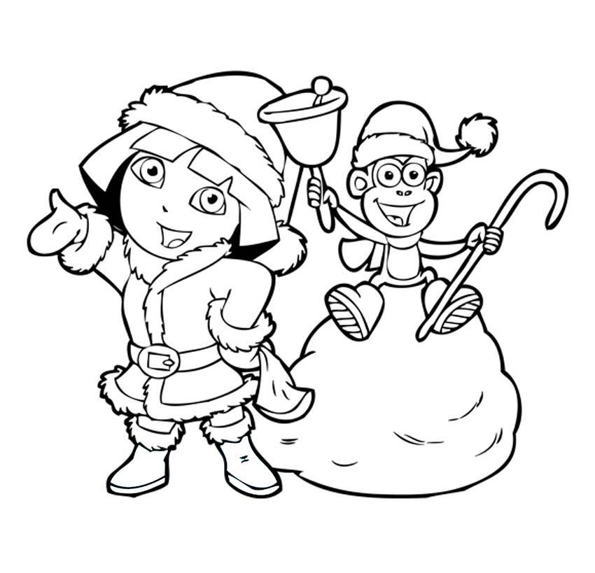 14 dora the explorer coloring page to print - Print Color ...