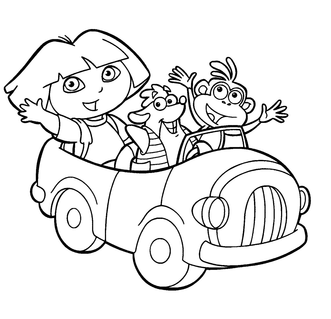 14 Dora The Explorer Coloring Page To Print