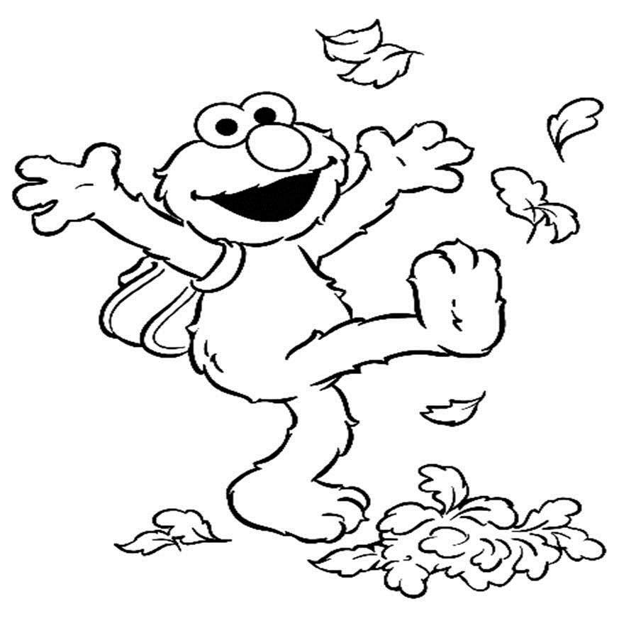 muppet character elmo coloring pages and pictures print color craft