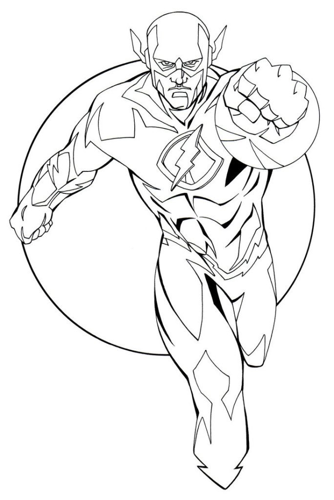 flash coloring pages,printable,coloring pages