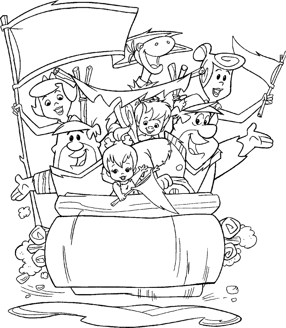 flintstones coloring pages 11,printable,coloring pages