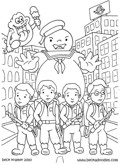 ghostbusters coloring page to print,printable,coloring pages