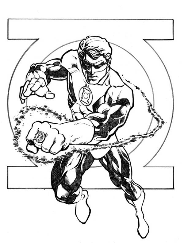 coloring pages of green-lantern,printable,coloring pages