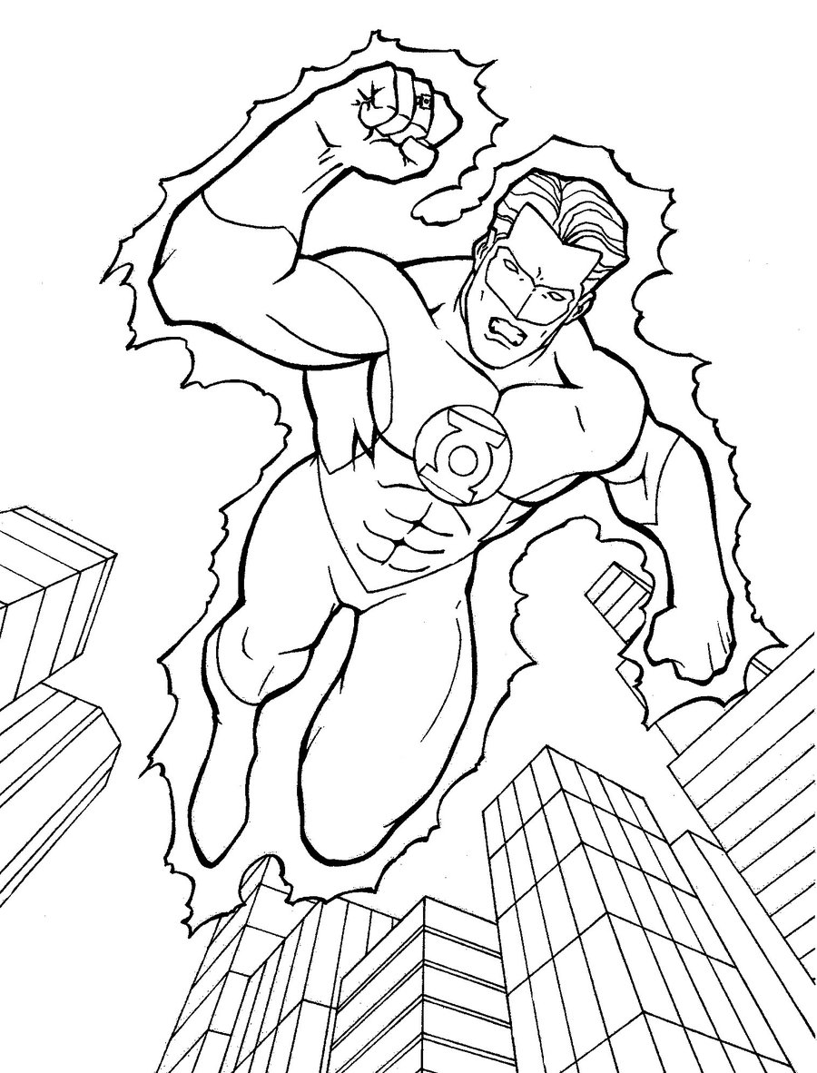 coloring pictures green-lantern,printable,coloring pages