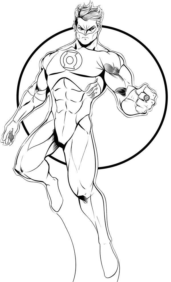 green-lantern coloring pages,printable,coloring pages