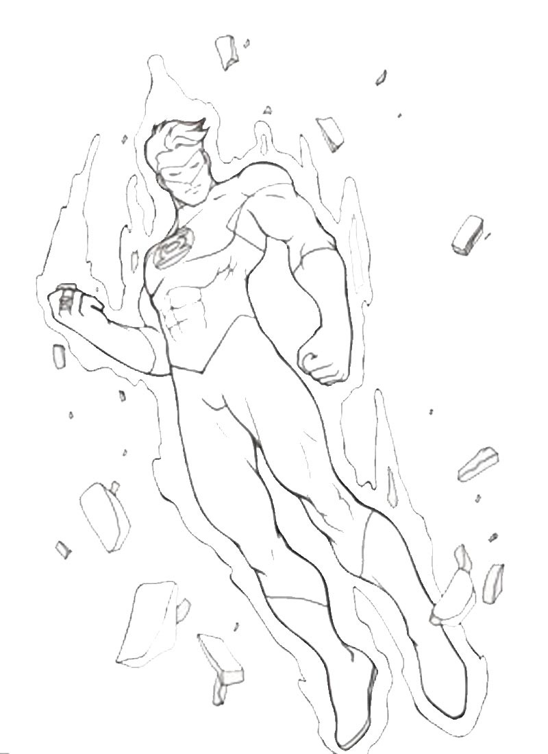 green-lantern coloring pages 12,printable,coloring pages