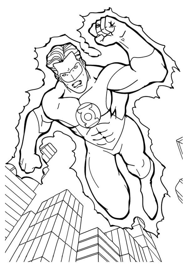 kids coloring pages green-lantern,printable,coloring pages