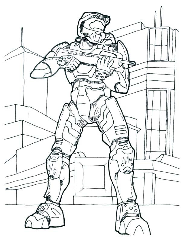 Awesome Halo 4 Print Sheets Coloring Coloring Pages