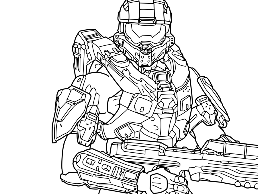 14 halo coloring pages printable - Print Color Craft | 675x900