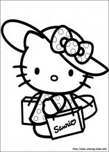 hello-kitty coloring page,printable,coloring pages