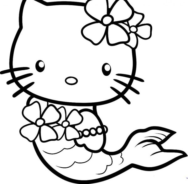 Hello Kitty Coloring Pages Print Color Craft