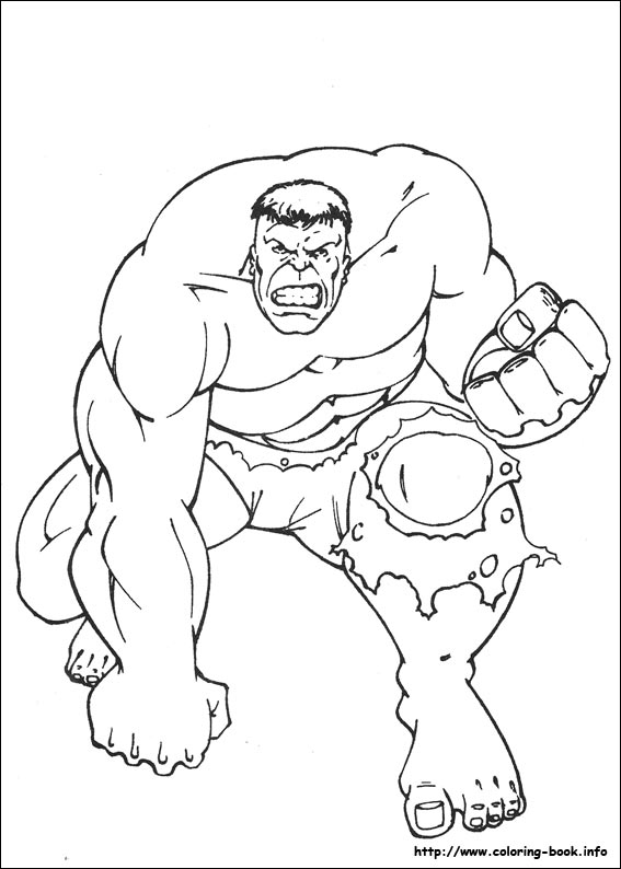 Coloring Pages Of Hulkprintablecoloring