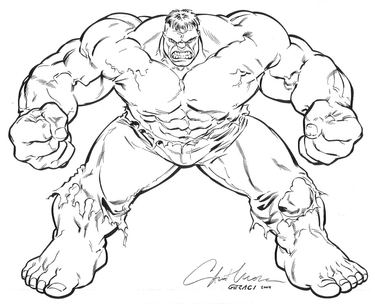 hulk coloring pages - photo #15