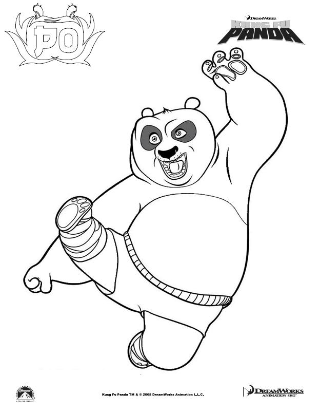 Coloring Pages Of Kung Fu Pandaprintablecoloring