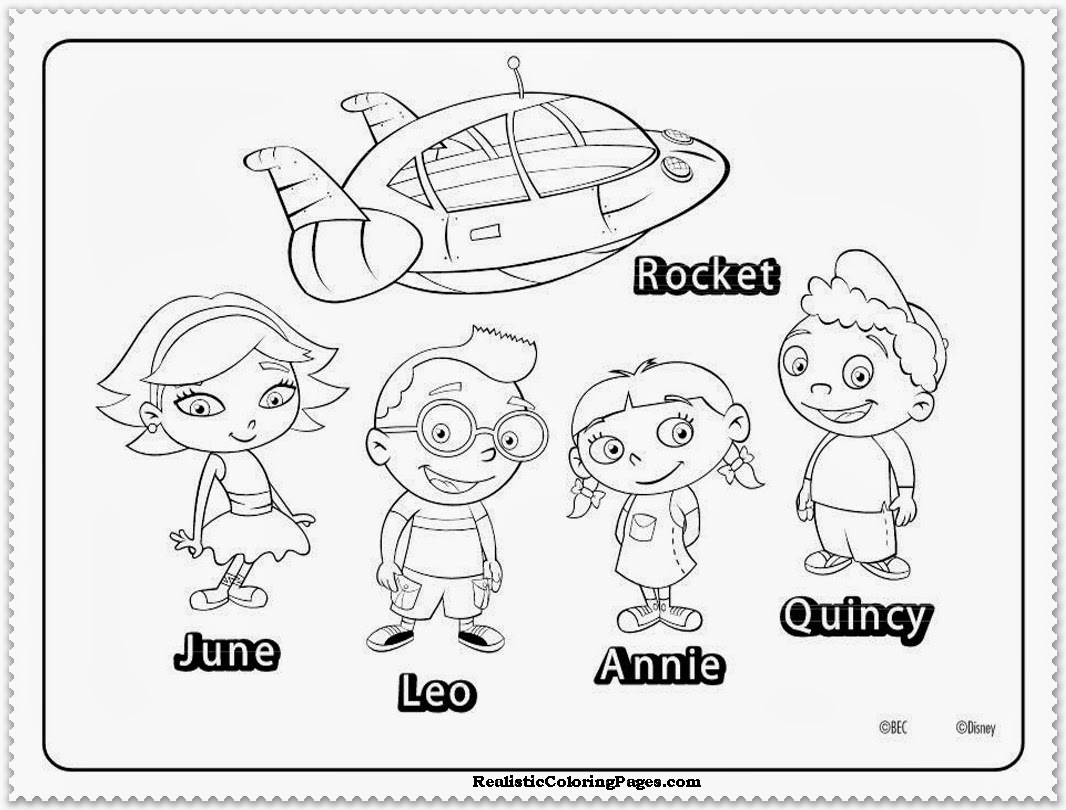 12 printable pictures of little einsteins page print color craft