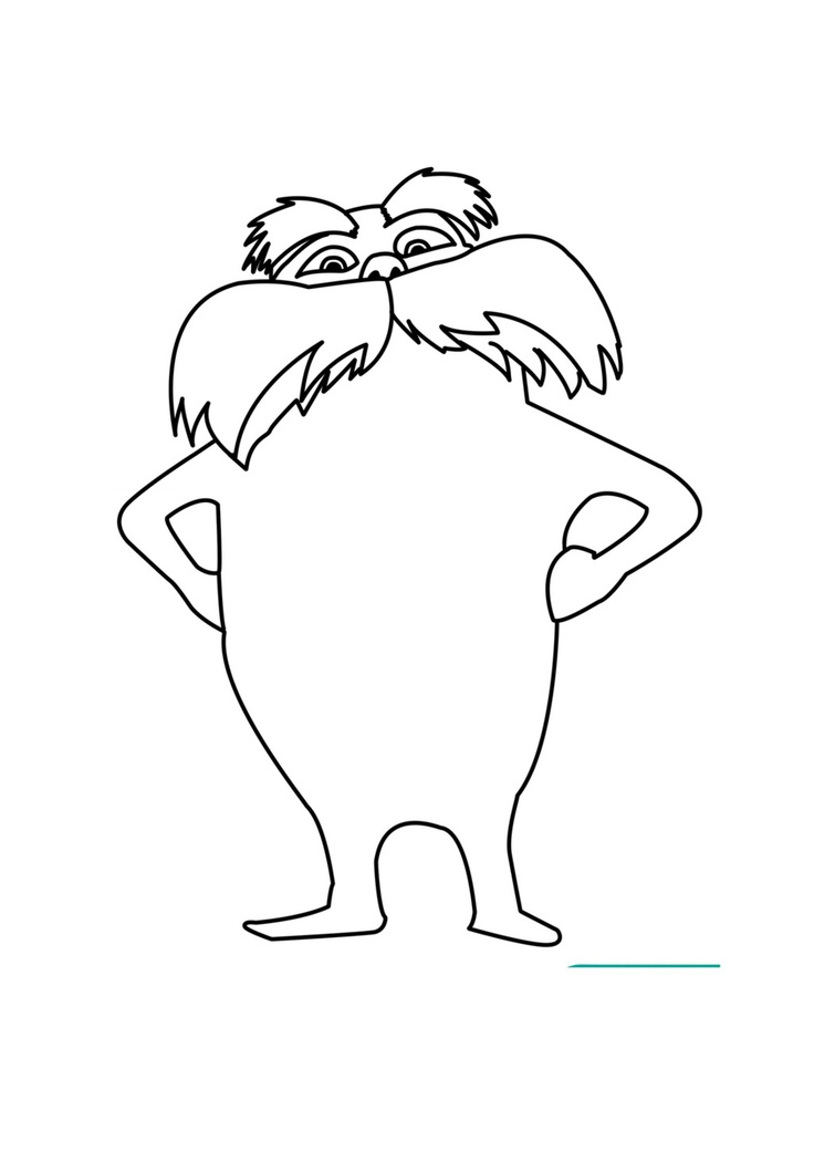 photograph about Lorax Printable known as Lovely Creature 16 Lorax coloring webpages images - Print
