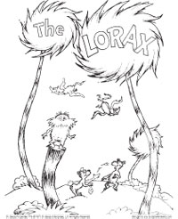lorax coloring pages for kids,printable,coloring pages