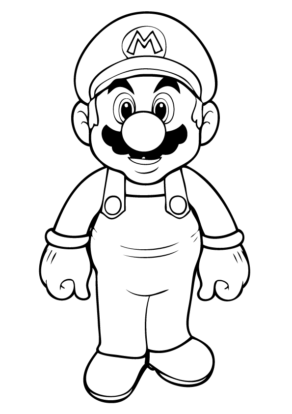 mario coloring page to print,printable,coloring pages