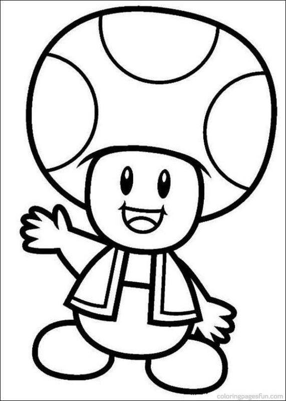 Mushroom kingdom 14 Mario coloring pages - Print Color Craft