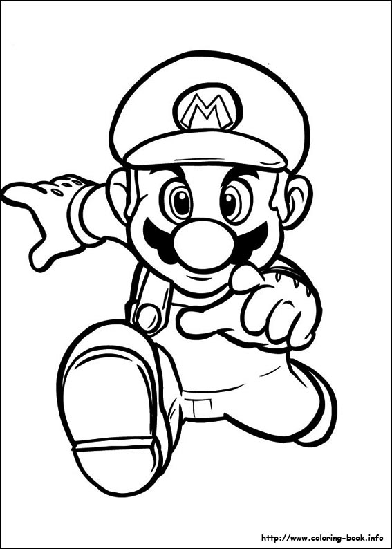 printable pictures of mario page,printable,coloring pages