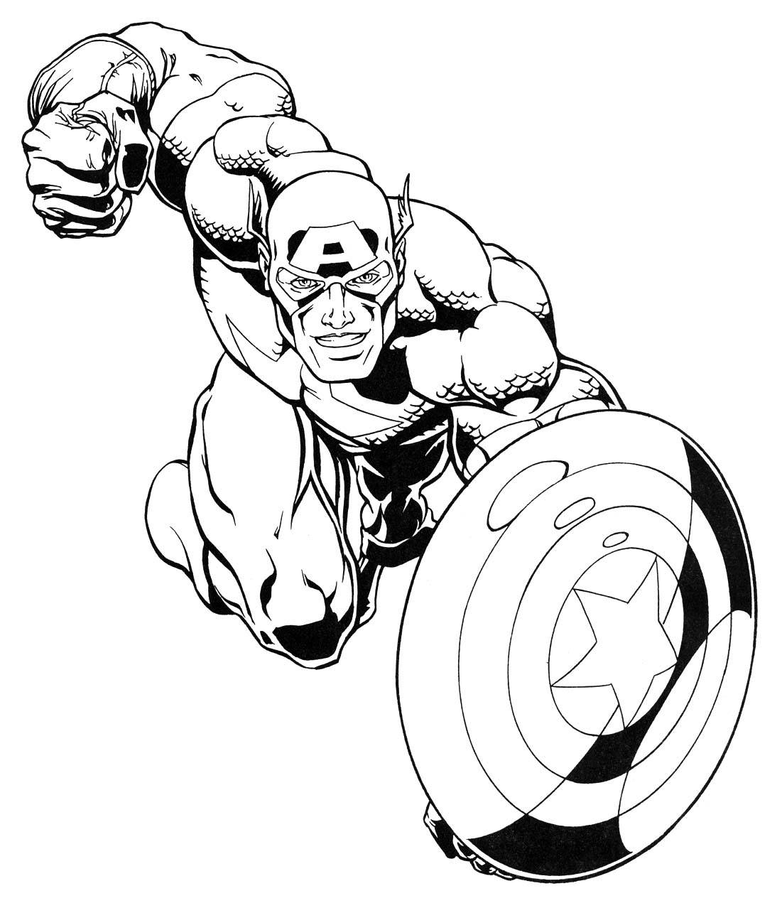 Marvel Colouring Pages : 13 marvel coloring page Print Color Craft