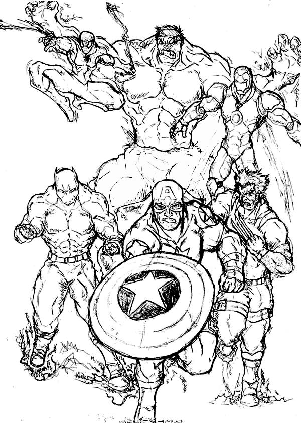 Marvel Printable Coloring Pages Marvel Coloring Pages Printable