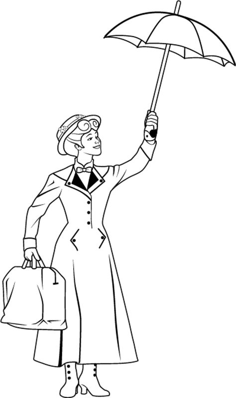 coloring pages of mary-poppins,printable,coloring pages