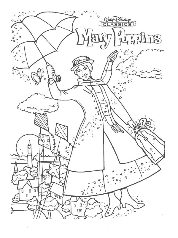 coloring pictures mary-poppins,printable,coloring pages